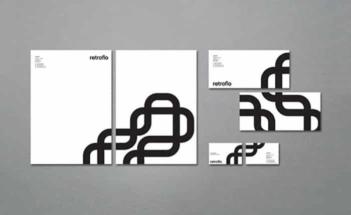 retroflow - creative letterhead design