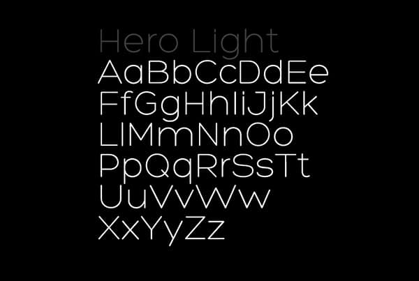 free thin fonts hero-light