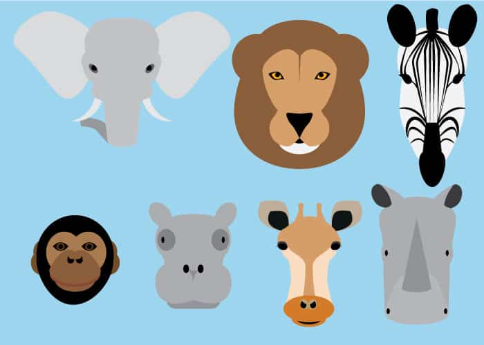 Vector Safari Animals