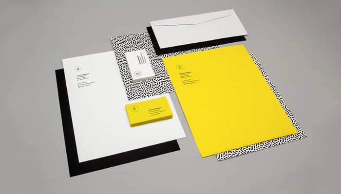 yellow balck white - creative letterhead design