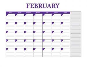Free 2015 calendar template - February