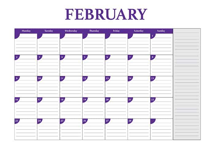 Free Full Size 2015 Desktop Calendar Template