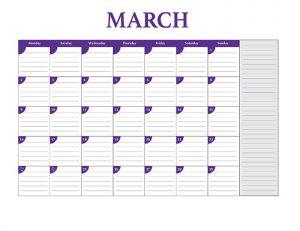 Free 2015 calendar template - March