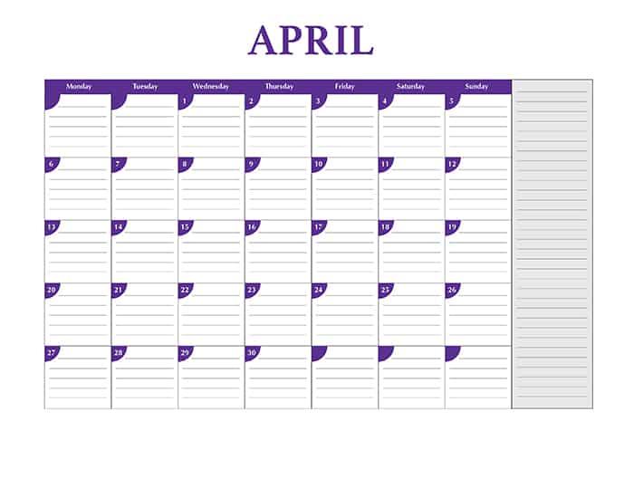 2015 desktop calendar template - Print
