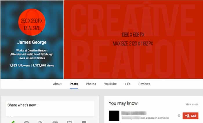 Google+ Cover Photo Template