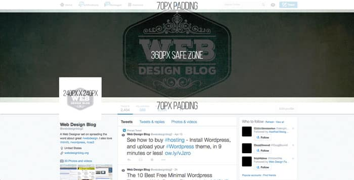 Twitter Cover Photo Template