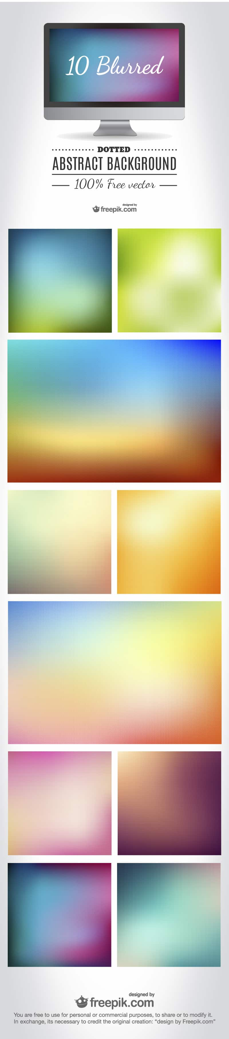 blurred and dotted abstract backgrounds