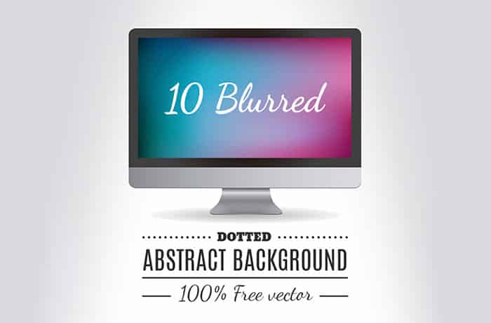 10 Blurred Dotted Abstract Backgrounds