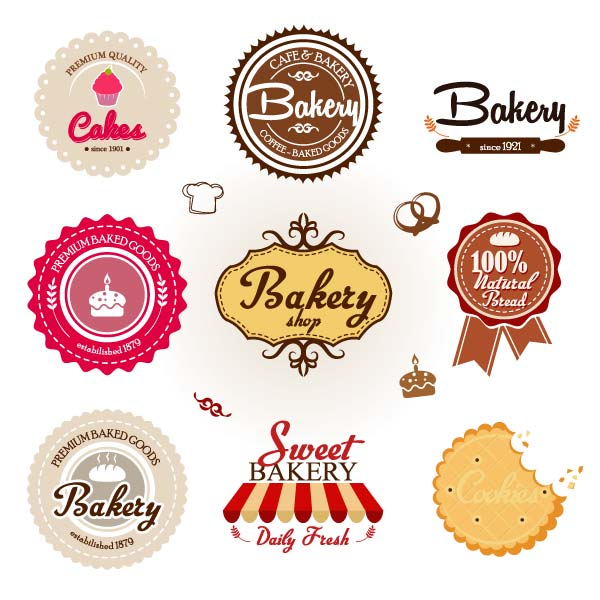 Free Vector Bakery Badges