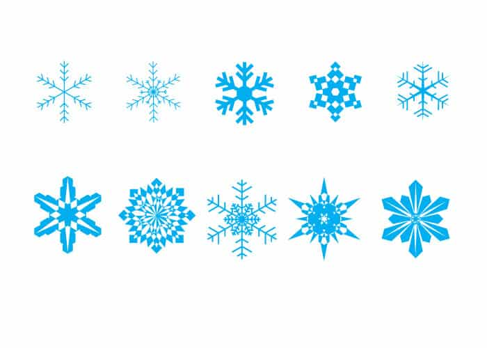 10 Free Vector Snowflakes