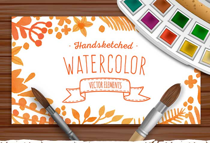 Watercolor Vector Elements