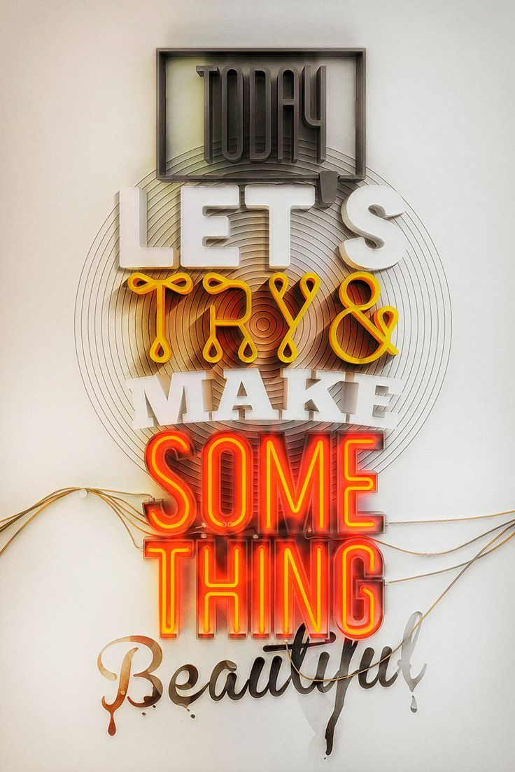 something beautiful 3d - type inspiration