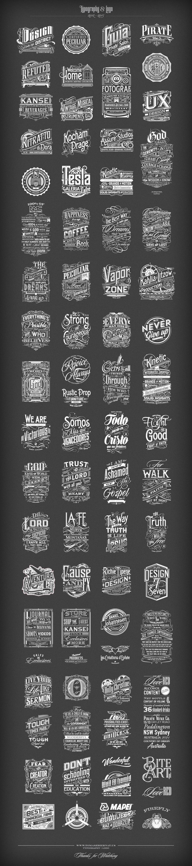 typography and logos - type inspiration