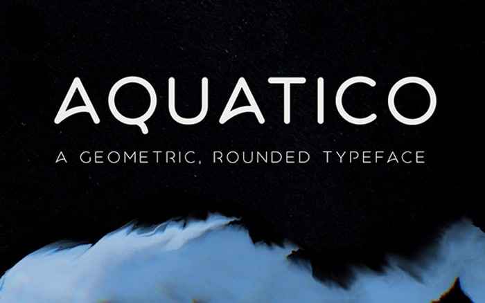 aquatico - cool free fonts