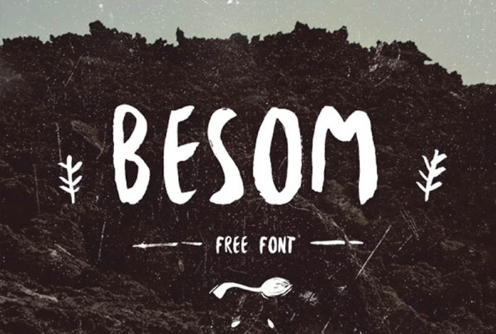 besom - cool free fonts
