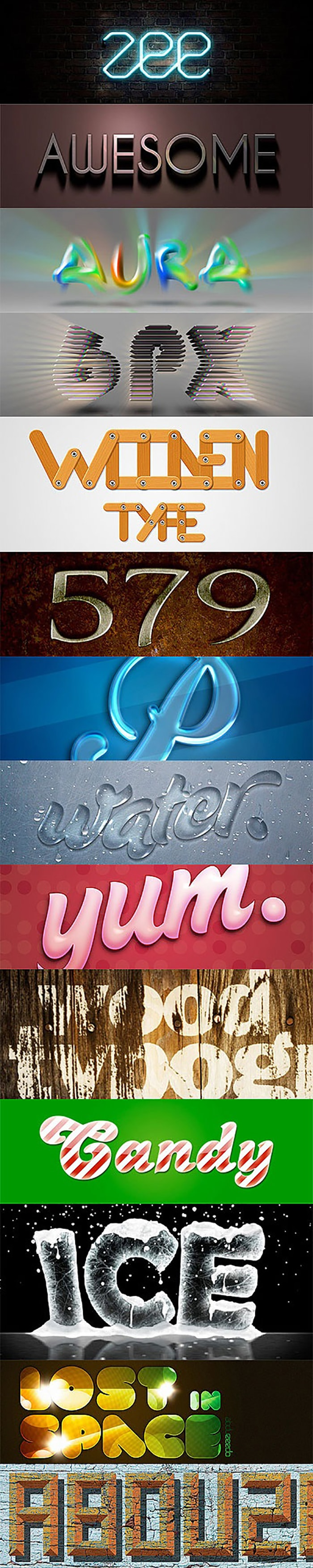 amazing photoshop text effects