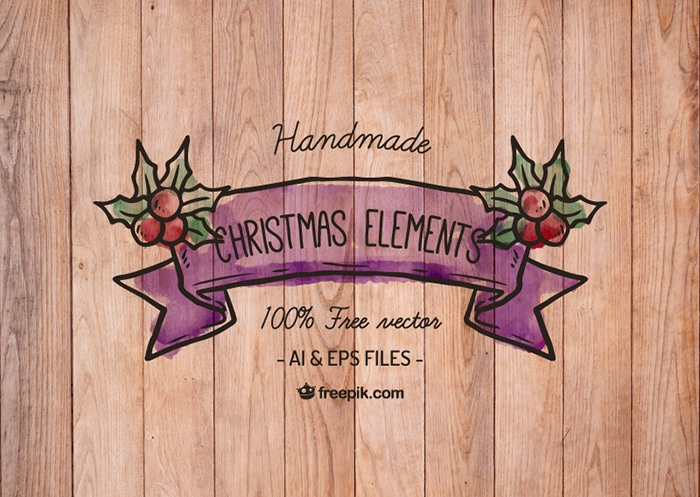 Free Handmade Christmas Elements
