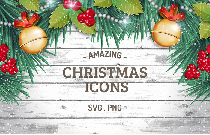 Amazing Christmas Icons (SVG + PNG)