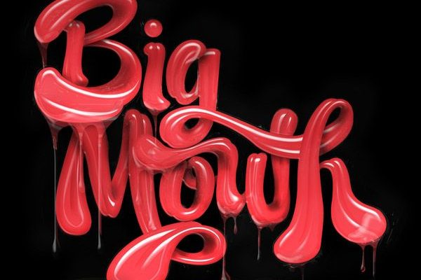 big mouth 3d typography
