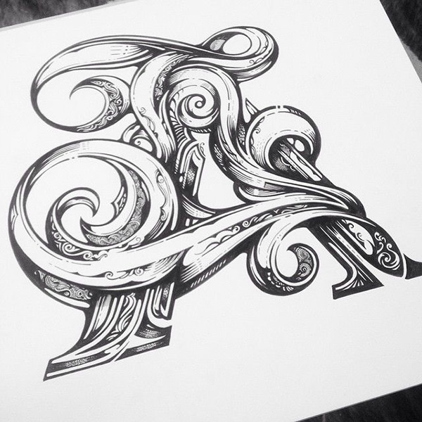 illustrative hand lettering
