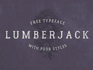 Lumberjack free font
