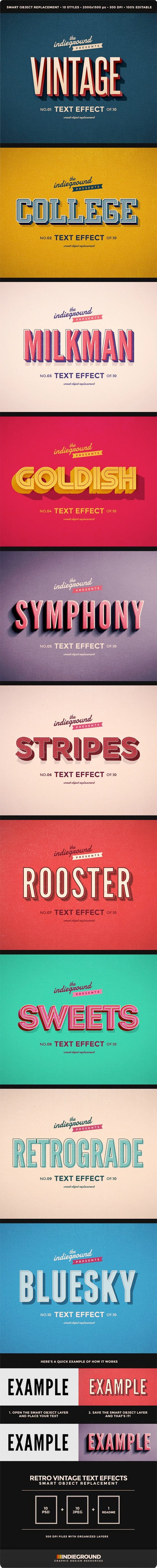 retro and vintage type effects