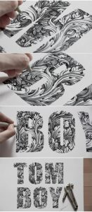 hand inked type - cool typography examples