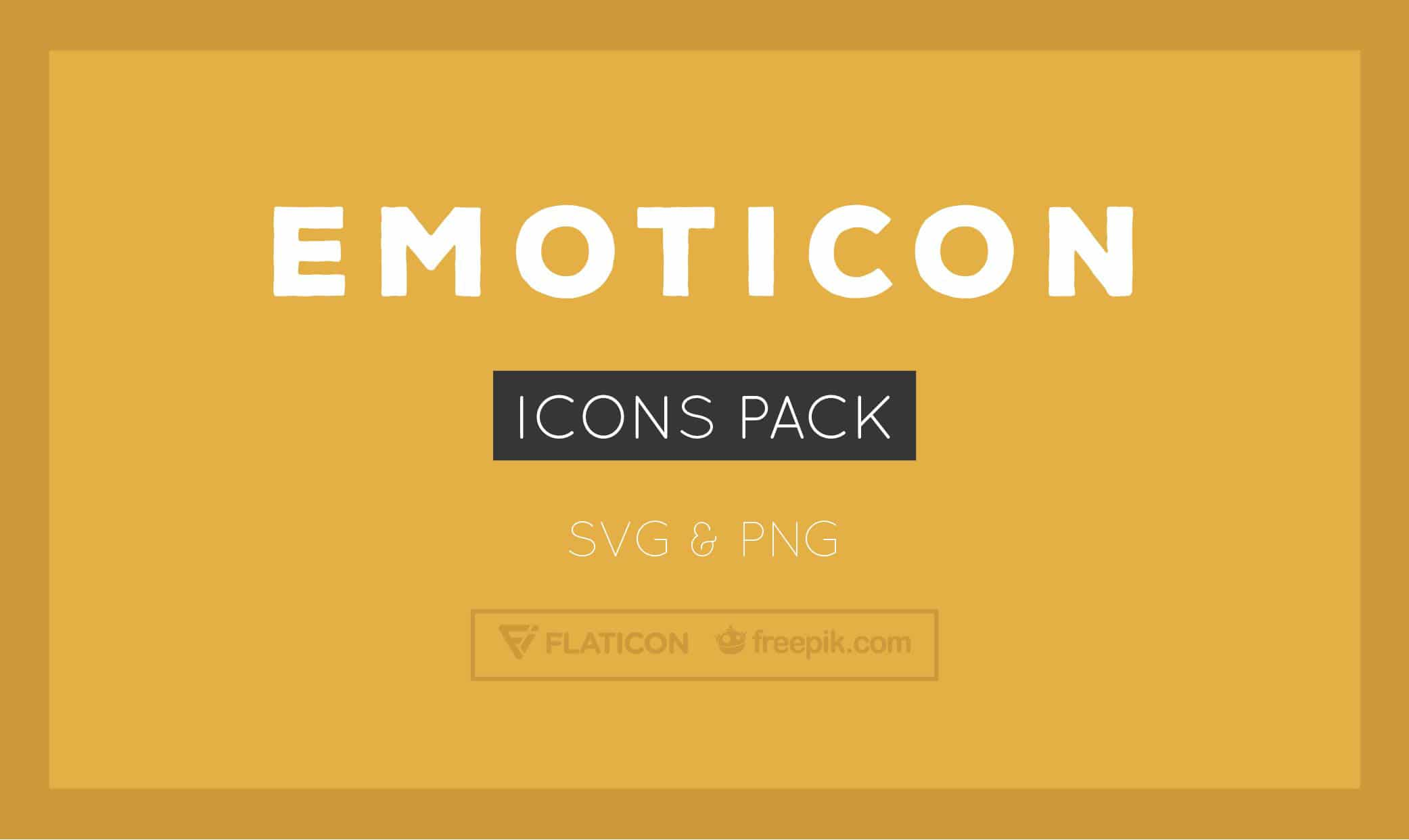 Free Emoticon Icons (SVG + PNG Formats)