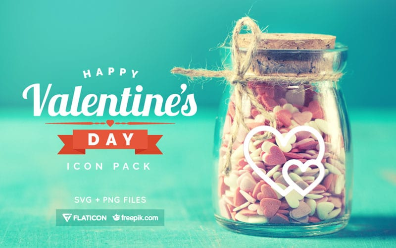 Free Valentines Day Icon Pack (PNG + SVG)