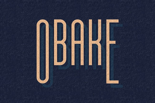 Obake tall thin font
