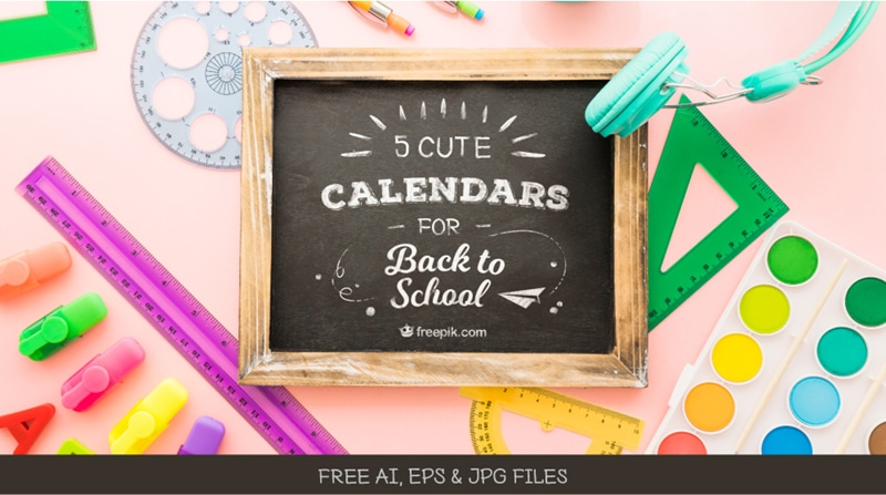 Download Free School Calendar Templates To Start The School Year