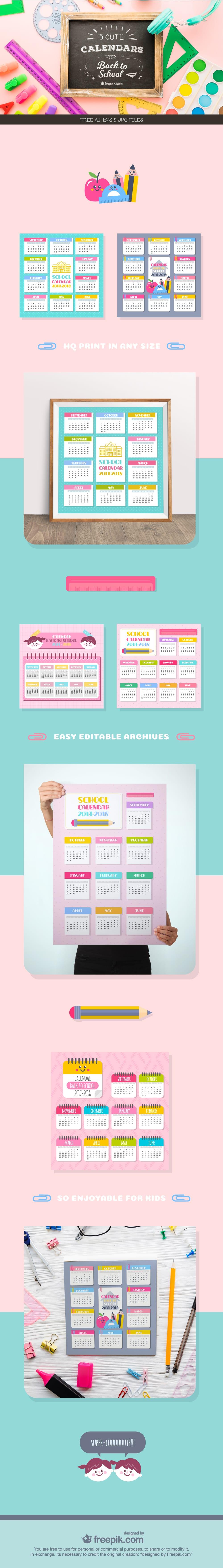 free school calendar templates