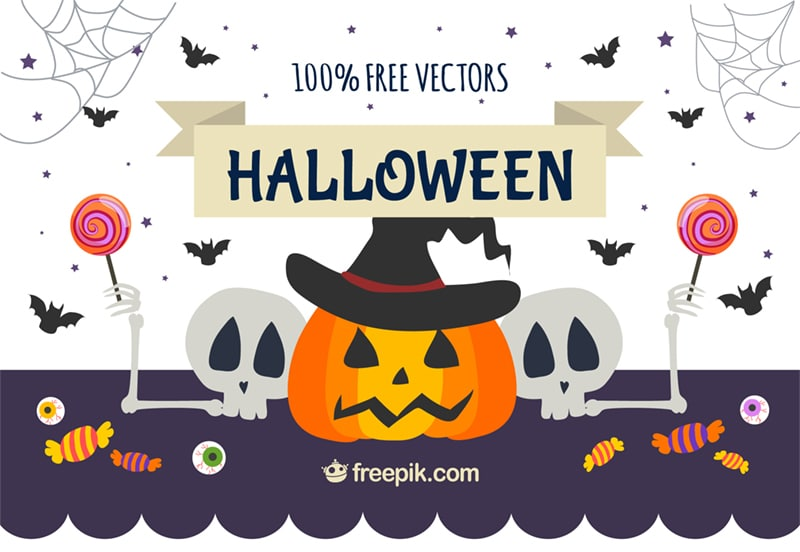 Free Halloween Patterns and Backgrounds (Ai + EPS)