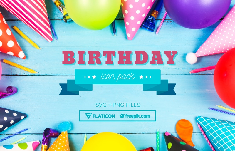 Download a collection of free birthday icons (PNG & SVG formats)
