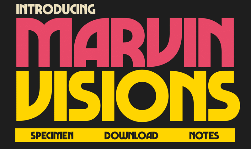 newest free fonts - marvin vision