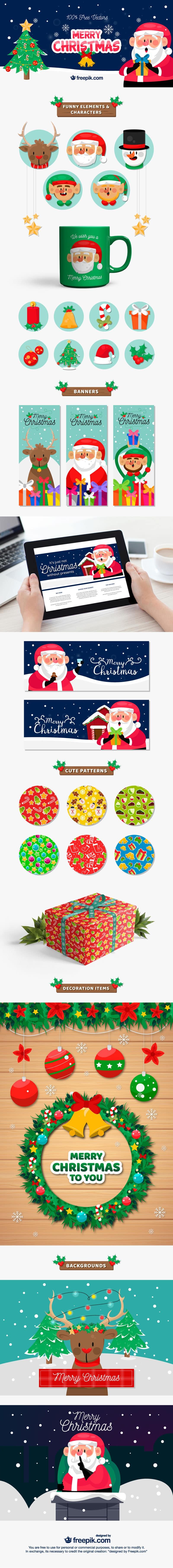 free Christmas Graphics & patterns
