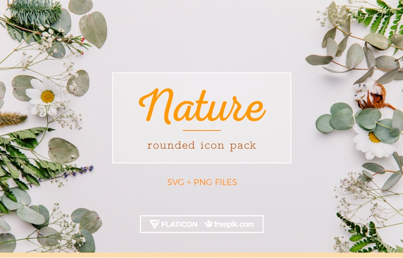 Free Nature Icons in 3 Different Styles (PNG + SVG)