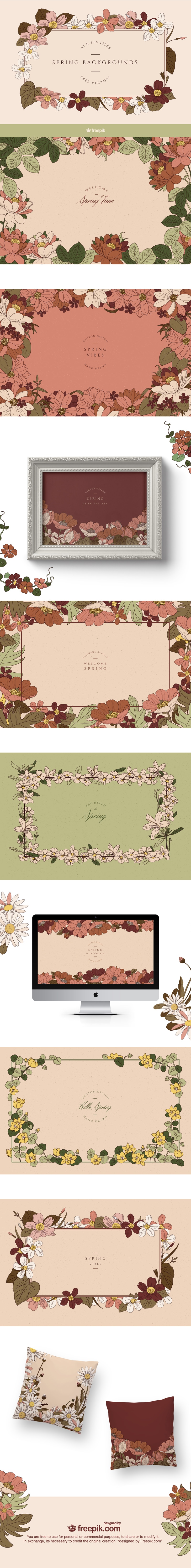 Vintage Spring Backgrounds