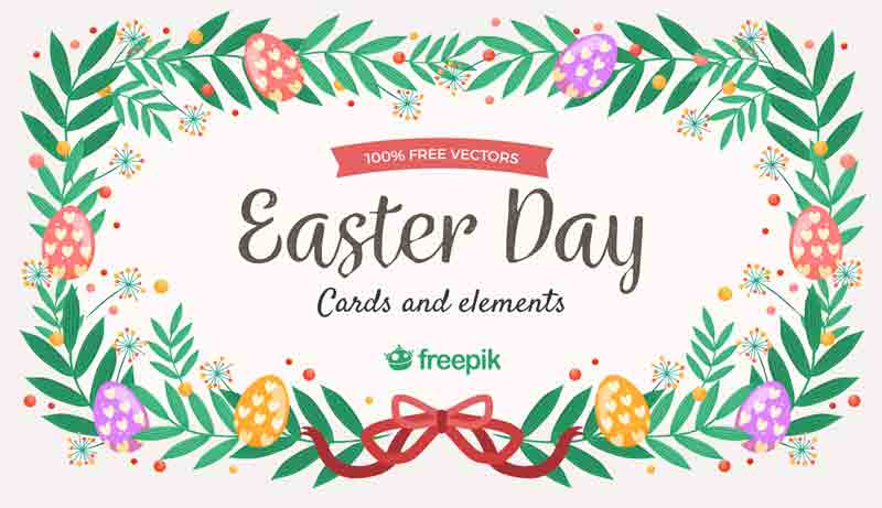Free Easter Elements and Cards in Ai and EPS formats